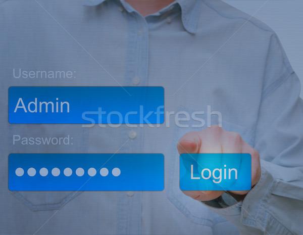 Login Button Stock photo © jamdesign