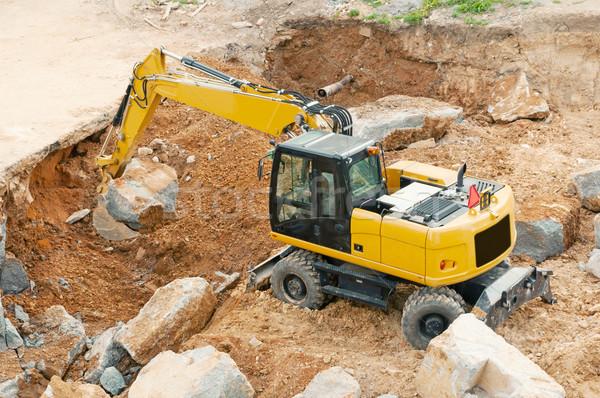 Yellow Excavator Stock photo © jamdesign