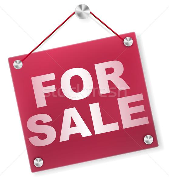 For Sale Sign - Plexi Signboard Stock photo © jamdesign