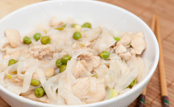 тайская еда куриные мяса риса горох Сток-фото © jamdesign