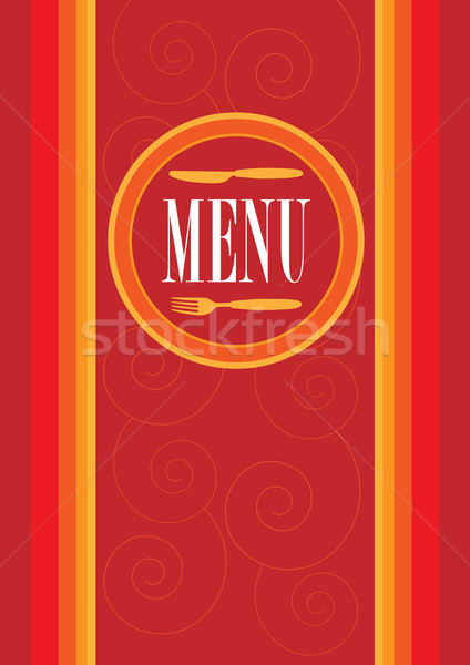 Menu Card Design Stock photo © jamdesign