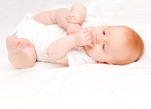 Baby Girl Stock photo © jamdesign