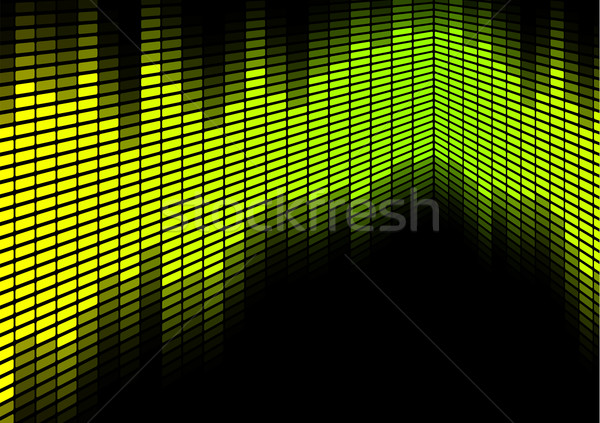 Stock photo: Green / Yellow Equalizer
