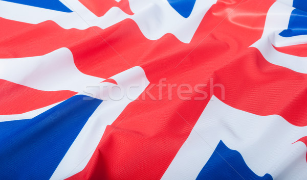 Flagge Großbritannien Detail seidig Hintergrund blau Stock foto © jamdesign