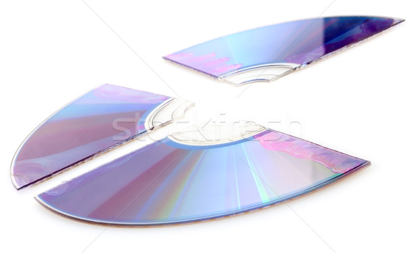 Stock photo: Broken CD