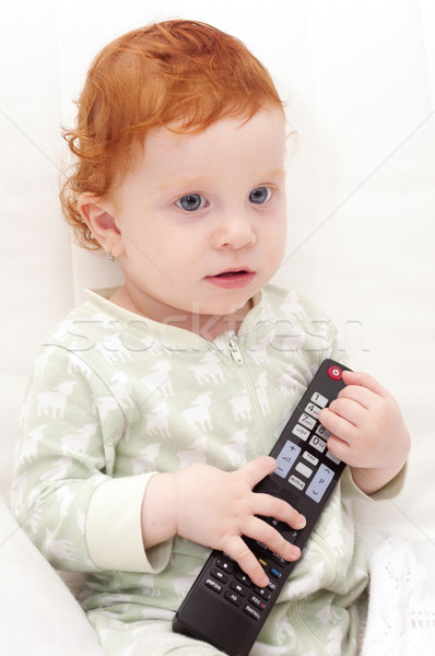 Baby Watching TV Stock photo © jamdesign
