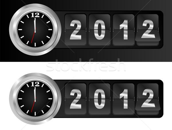 Nouvelle année 2012 signe argent coq aéroport Photo stock © jamdesign