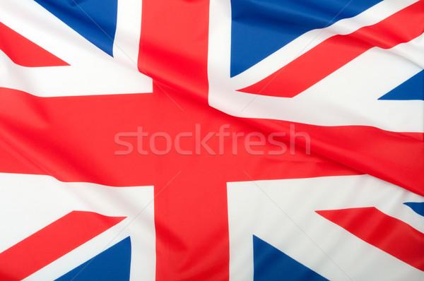 Großbritannien Flagge glänzend Hintergrund blau Stock foto © jamdesign