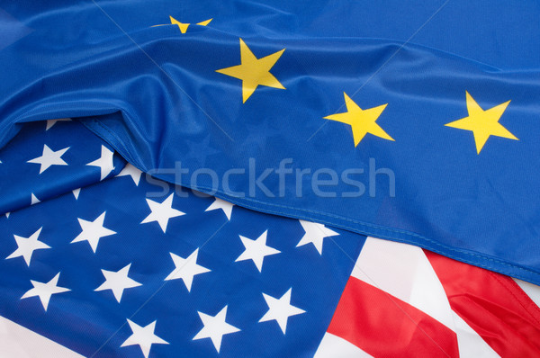 USA Europe drapeaux européenne Union Photo stock © jamdesign
