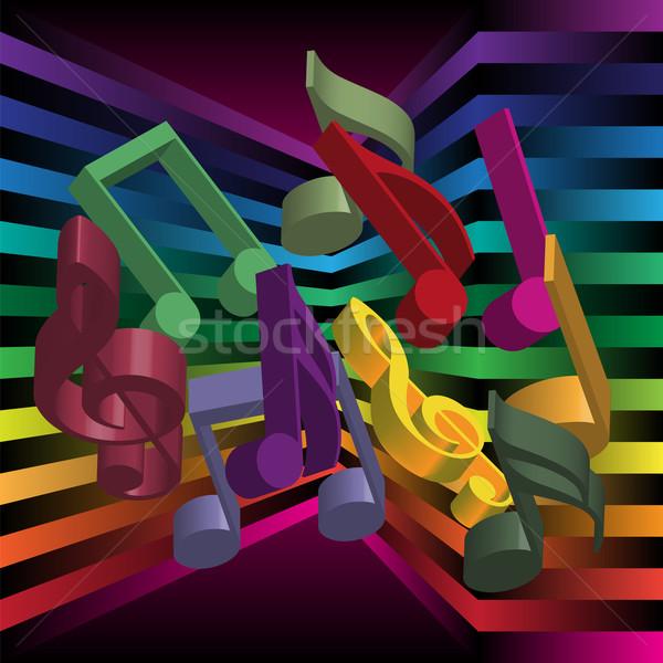 Música festa notas abstrato soar nota Foto stock © jamdesign