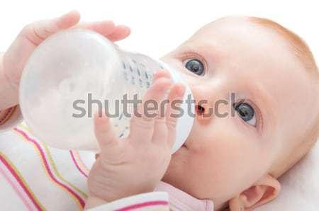 Essen trinken Milch Flasche weiß Stock foto © jamdesign