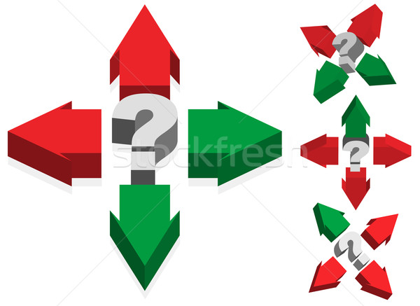 Question Mark and Arrows Stock photo © jamdesign