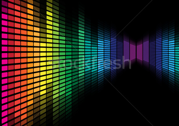 Stock photo: Abstract Background - Graphic Equalizer
