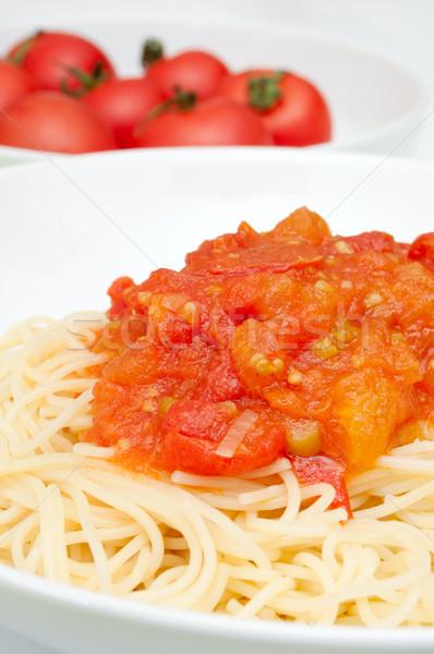Stock foto: Spaghetti · Tomatensauce · Pasta · Tomaten · Kochen