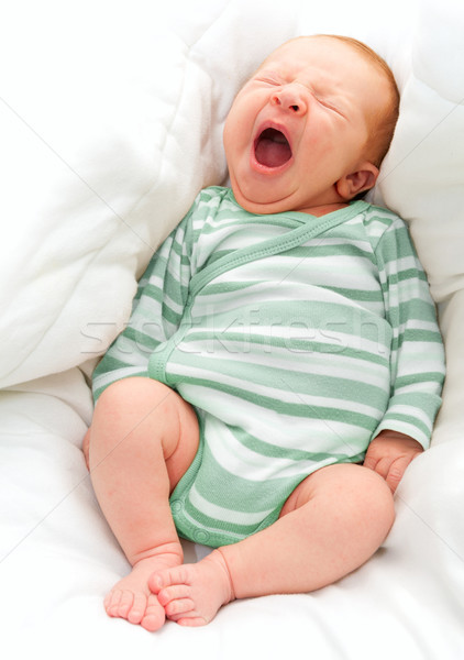 Yawning New Born Baby Stock photo © jamdesign