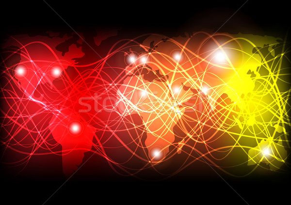 Glowing Optical Fibers Stock photo © jamdesign