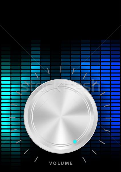 Buli zene hangerő fogantyú kék hangszínszabályozó Stock fotó © jamdesign