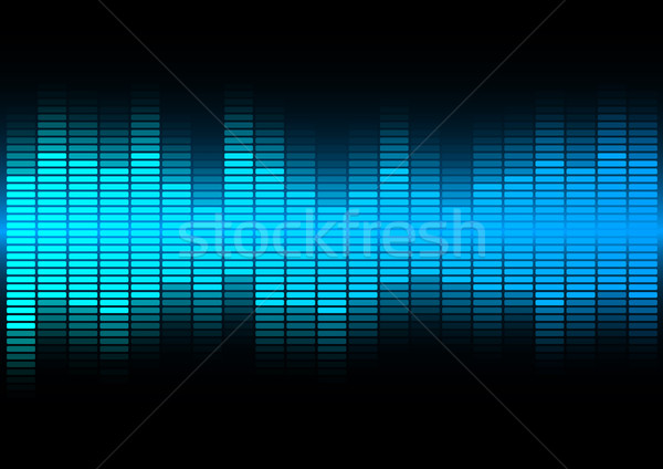 Stock photo: Abstract Background  - Blue Equalizer