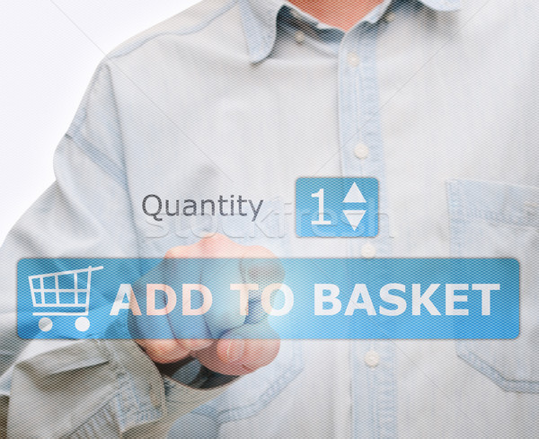 Pushing Add to Basket Button Stock photo © jamdesign