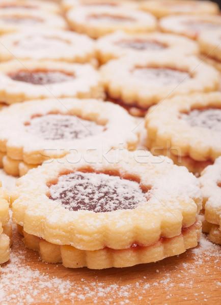 Linzer Cookies Stock photo © jamdesign