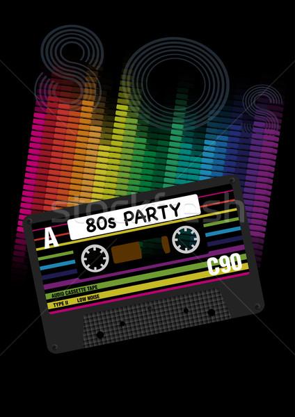 Vector 80s partij jaren tachtig eps10 retro Stockfoto © jamdesign