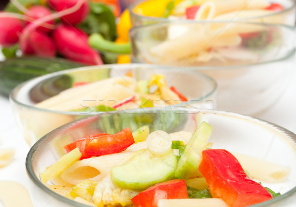 Pasta Salad With Vegetables Stock photo © jamdesign