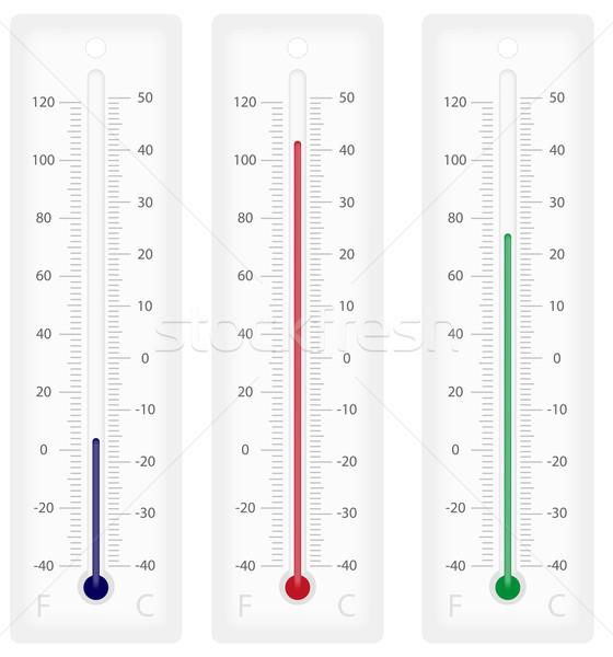 Termómetro ilustración celsius escalas aislado blanco Foto stock © jamdesign