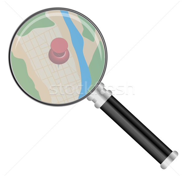 Magnifying Glass and Map Stock photo © jamdesign