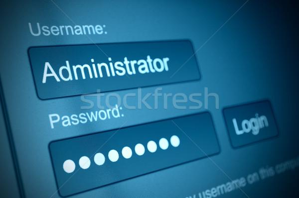 Inloggen vak gebruikersnaam wachtwoord internet browser Stockfoto © jamdesign