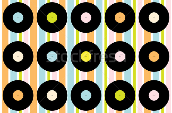Stockfoto: Vintage · vinyl · record · behang · abstract · records