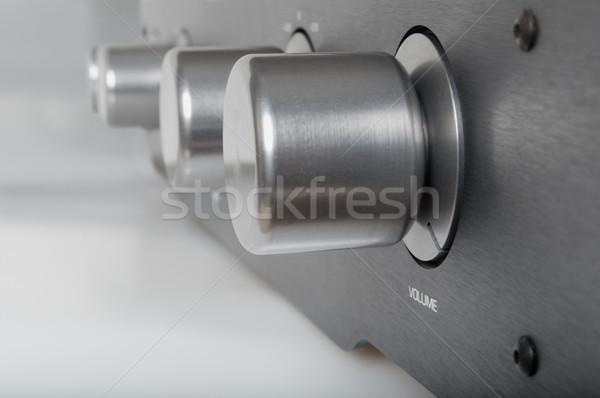 Volume zilver metalen ondiep metaal Stockfoto © jamdesign