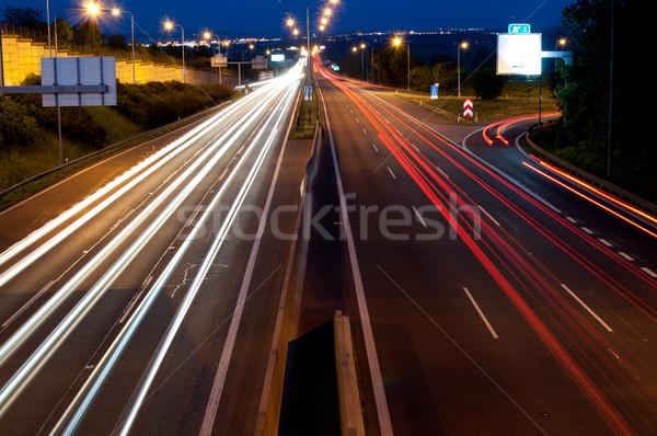 Traffic in Night Stock photo © jamdesign