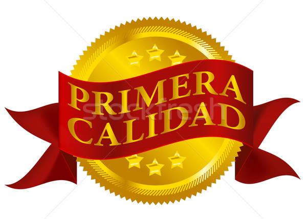 Prim kalite mühürlemek İspanyolca versiyon kırmızı Stok fotoğraf © jamdesign
