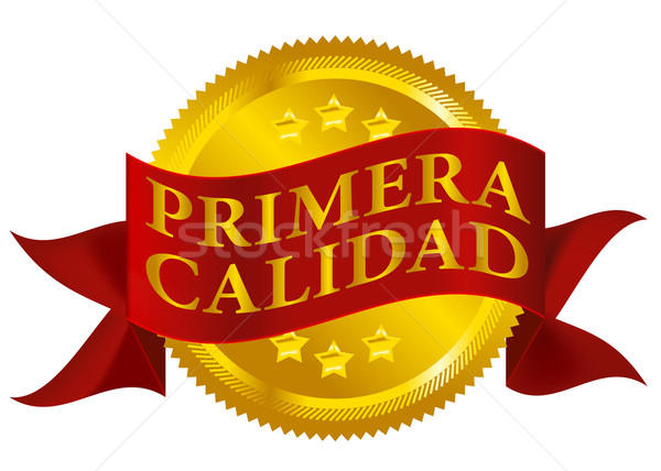 Premium Quality Seal - Spanish Version Stock photo © jamdesign