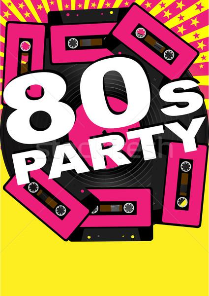 Retro buli bakelit lemez audio 80-as évek Stock fotó © jamdesign