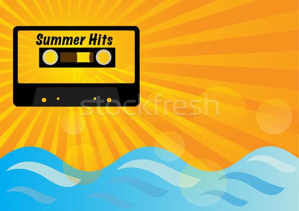 Lata strony retro audio kaseta taśmy Zdjęcia stock © jamdesign