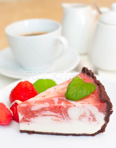 Strawberry Cheesecake Stock photo © jamdesign