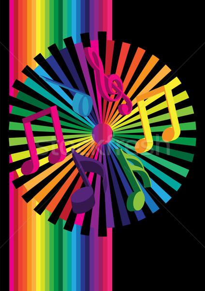 Buli jegyzetek csíkok fekete művészet ötlet Stock fotó © jamdesign