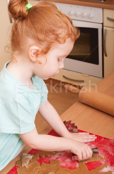 Baking Christmas cookies Stock photo © jamdesign