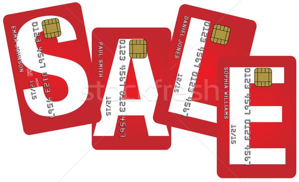 Carte di credito vendita segno isolato bianco business Foto d'archivio © jamdesign