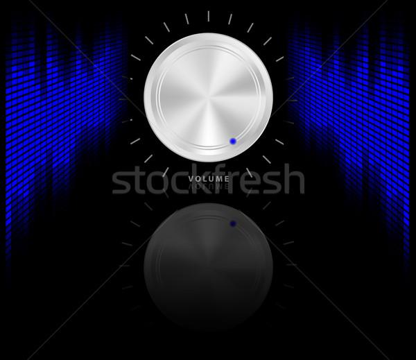 Buli hangszínszabályozó kék hangerő fogantyú zene Stock fotó © jamdesign