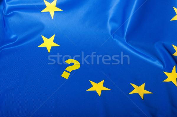 Bayrak avrupa sendika detay ipeksi mavi Stok fotoğraf © jamdesign