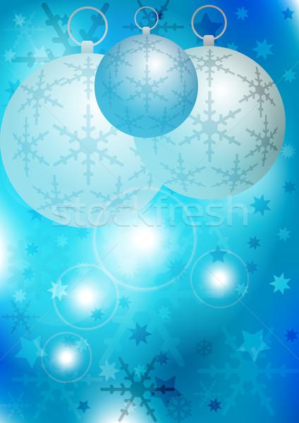Blue Christmas Background Stock photo © jamdesign