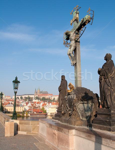Prague Castle and Charles Bridge Stock photo © jamdesign