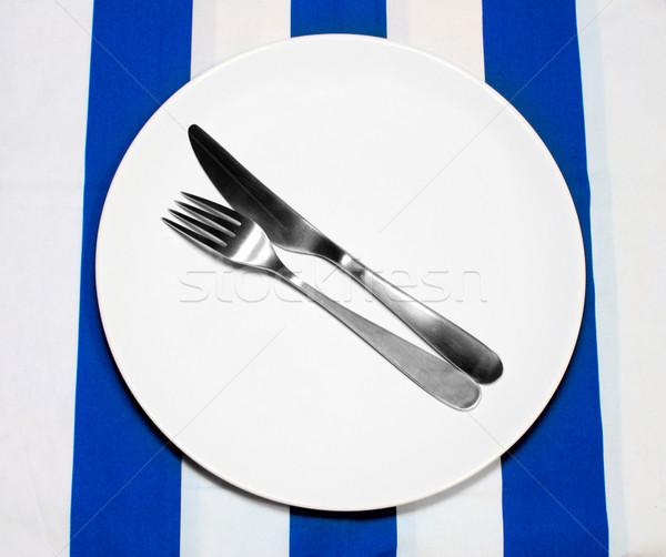 Empty Plate And Silverware Stock photo © jamdesign