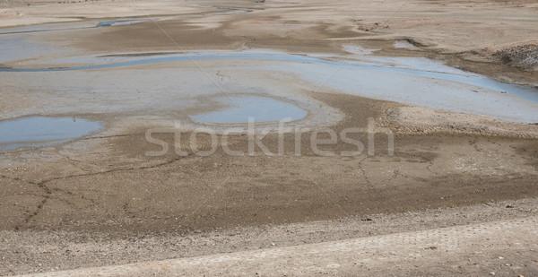 Száraz tó víz fenék aszalt tájkép Stock fotó © jamdesign