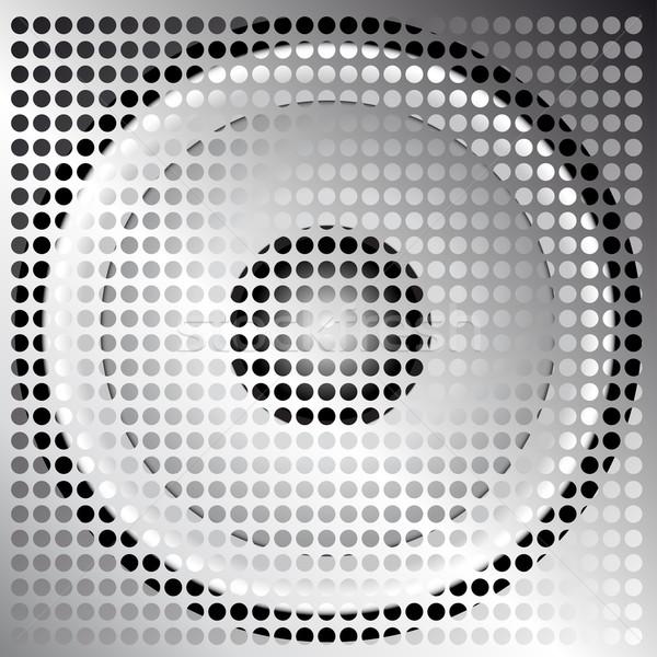 Język grill ilustracja głośnik srebrny metaliczny Zdjęcia stock © jamdesign