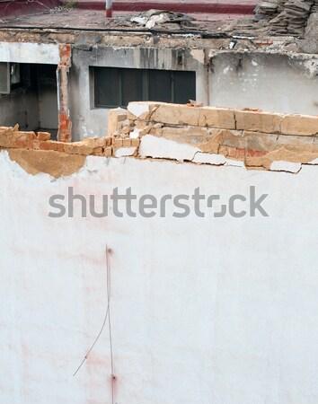 Rombolás részlet ház épület ipari veszély Stock fotó © jamdesign