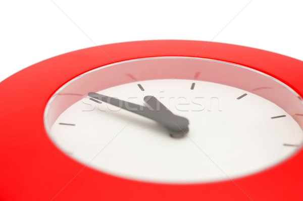 Cinco medianoche detalle rojo pared reloj Foto stock © jamdesign