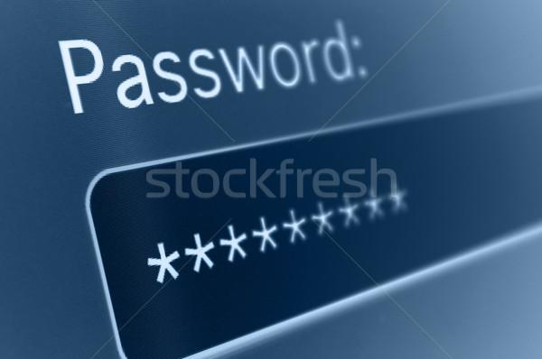 Wachtwoord vak internet browser veiligheid Stockfoto © jamdesign